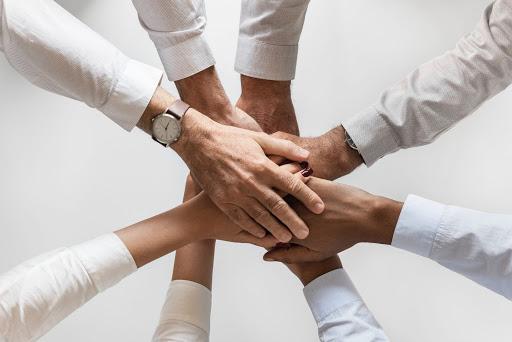 συμφωνία, χέρια, ενότητα